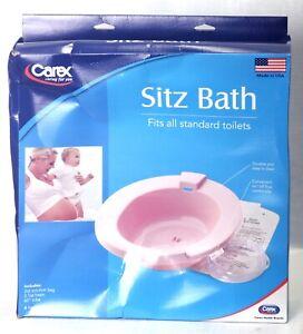 Sitz Bath Over the Toilet Perineal Soaking Bath Carex Health P70800 Made in USA