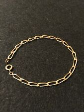 18ct Gold Bracelet 5.16g Yellow Gold Solid Linked Chain