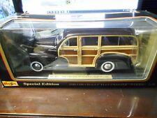 Maisto - 1948 Chevrolet Fleetmaster (Woody)(Black) (1:18)