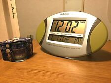 Kadio Digital LCD Alarm Clock Calendar Date Temperature Time, Christmas Gift