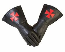 More details for knights templar gauntlets  masonic gauntlets in real leather