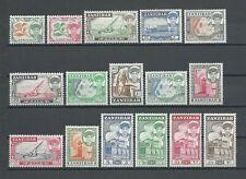 More details for zanzibar 1961 sg 373/88 mnh cat £45