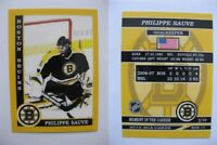 2015 SCA Philippe Sauve Boston Bruins goalie never issued produced #d/10 rare