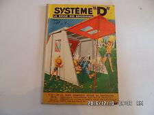 SYSTEME D N°160 04/1959 BUNGALOW DEMONTABLE DE CAMPING COFFRE DE RANGEMENT   D85