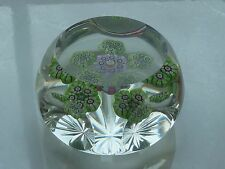 "Perthshire PP14 LE ""G"" 1975 Millefiori w/Cane Clusters Paperweight EC w/COA #131"