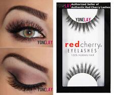 1 Pair AUTHENTIC RED CHERRY #73 Madison Human Hair False Eyelashes Strip Lashes