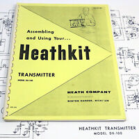 HEATHKIT DX-100 TRANSMITTER ASSEMBLY & USING MANUAL Ham/Amateur Radio + FOLDOUTS