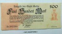 Banknote / Billet GERMANY, ALLEMAGNE - NOTGELD GOTHA 500 MARK 05-10-1922