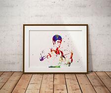 Bruce Lee grabado, cartel, grabados, carteles, Acuarela, Wallart