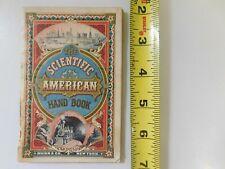 1877 SCIENTIFIC AMERICAN HAND BOOK