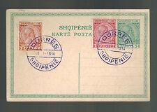 1914 Durres Albania Postcard Cover # 35-37