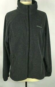 Columbia Women's Jacket Size XL Charcoal Gray Full Zip Fleece Zippered Pockets