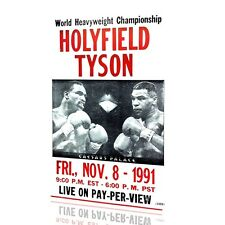 METAL WALL SIGN Tyson Holyfield POSTER Classic BOX Fight Nov 8 1991 Decor Bed