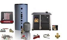 Wasserführender Festbrennstoffherd / Küchenherd DAIWA 22T - 16-27 kW Komplettset