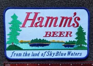 """Vintage style PATCH Hamm's Beer """"FROM THE LAND OF SKY BLUE WATERS """" RETRO"""