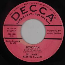 BILL HALEY & THE COMETS: Skokiaan USA DJ Decca Rockabilly ORIG 45 Hear
