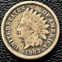 1863 Indian Head Cent One Penny 1c Circulated #20398
