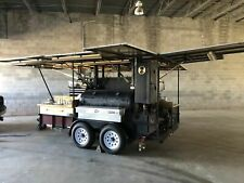2000 - 6.8' x 12.5' Open Bbq Tailgating Smoker with Trailer for Transport for Sa