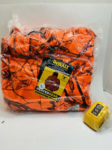 Dewalt heated jacket large Blaze Orange  camo discontinued Color