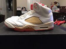 Size 7.5 Women's Size 6 Men's Air Jordan Retro 5 Sunset Bred Metallic Royal