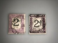 SOUTH AFRICA 2d POSTAGE 2 Stamps
