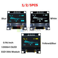 "1/2/5PCS 0.96"" I2C IIC Serial 128X64 OLED LCD Display Module SSD1306 for Arduino"