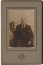 1910s Hall's Agricultural Hot Water Heater Cabinet Photo Advertising Card