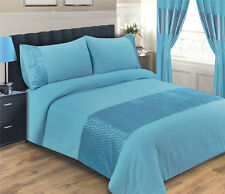 TEAL DUVET COVER SET INCLUDING PILLOWCASES  - SIZE DOUBLE