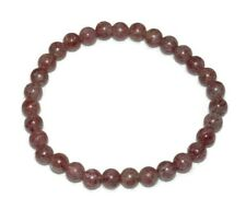 Muscovite Angel Stone Bracelet Natural Beads Angelic Contact Crystal Healing 6mm