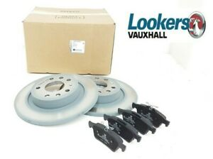 Genuine Vauxhall Vectra C Signum Solid Rear Discs & Pads Set 93186300