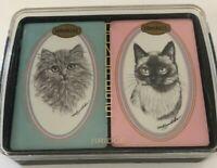 Vtg Congress Bridge Playing Cards Persian Siamese Cats NEW Sealed Decks