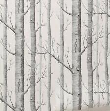 Birch Tree Woods Wallpaper Roll Textured Art Natural Wall Paper Home Decor - SS