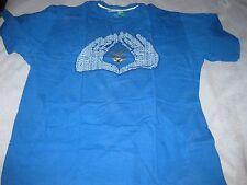 ROCAWEAR MENS Blue T Shirt XXL Jay-Z Kanye West Yeezus The Roc Signature Hand