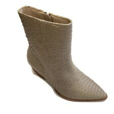 Matisse Caty Ivory Snake Leather Fashion Booties Pointed Toe Womens Size 7.5W
