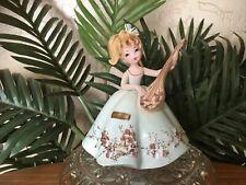 """Vintage Josef Originals Bonnie from """"Musicale"""" Series Girl w/ Mandolin Figurine"""