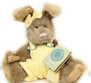 Boyds Bears Meredith BUNNY RABBIT Plush Roses Jumpsuit Original Tags