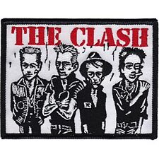 THE CLASH Caricature THERMOCOLLANT / à coudre chiffon Patch 100mm x 80mm (CV)