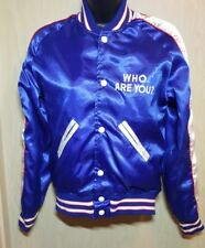 THE WHO - WHO ARE YOU? Ladies XS-S Blue Nylon Jacket 1978 Disc Record & Tapes