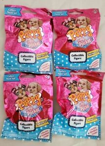 4 New Bags PUPPY IN MY POCKET COLLECTIBLE FIGURE SERIES 2 MYSTERY GRAB BAGS Toy