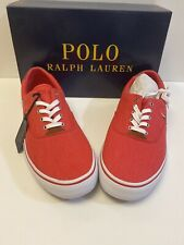 Polo Ralph Lauren Men's Thorton Red Washed Twill Fashion Shoe Size 11 D New