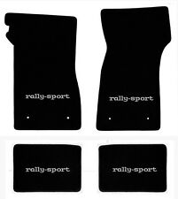 NEW 1967-1969 Camaro Floor Mats Black Carpet Embroidered Rally Sport RS on all 4