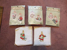 Collectible Needlepoint Sampler Set 2 Bunnys plus 2 unopened sets Christmas
