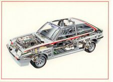 Opel Vauxhall Chevette Transparent Picture Interior Postcard Card New
