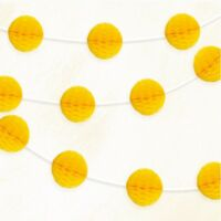 Sunflower Yellow Honeycomb Mini Ball Paper Garland  Party Banner Decoration 7FT