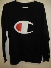 "9426-1 Mens Apparel Authentic Champion ""Crew Neck"" Pullover Sweatshirt $60 Blue"