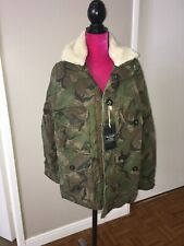 Abercrombie And Fitch Mens Combat Army Cargo Coat Jacket Medium NWT