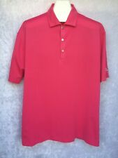 Tiger Woods Platinum Golf Shirt Pink Blaster Bust Your Nuts Car Products Large