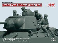 ICM 1/35 Russo/Soviet Tank RIDERS (1943-1945) # 35640