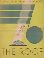 Vintage THE ROOF Hotel Restaurant Menu Pennsylvania New York