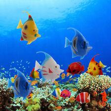 5pcs Artificial Plastic Floating Fake Vivi Fish Ornament for Aquarium Tank Decor